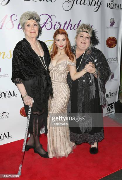 Ainsley Ross and family attend actress Ainsley Ross birthday party benefiting The Jonathan Foundation Upstairs At Vitellos on May 19 2018 in Studio...