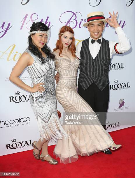 Ainsley Ross and Minn and Peppa of Hollywood Hotshots attend actress Ainsley Ross birthday party benefiting The Jonathan Foundation Upstairs At...