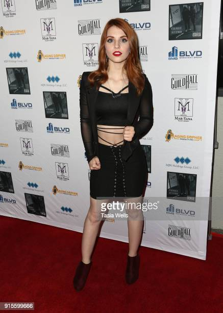 Ainsley Ross at Brett Hunt aka BRet's record release party for his new rap album Falsely Accused Chapter One on February 7 2018 in Burbank California