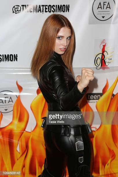 Ainsley Ross attends Mateo Simon's Annual Charity Halloween Event on October 27 2018 in Burbank California