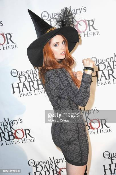 Ainsley Ross attends Queen Mary Dark Harbor Private Tour And Halloween Celebration held at The Queen Mary on October 31 2018 in Long Beach California