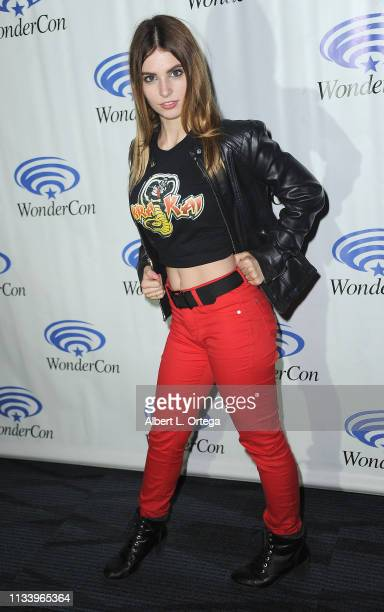 Ainsley Ross attends Season 2 of YouTube Red's 'Kobra Kai panel at WonderCon 2019 Day 2 held at Anaheim Convention Center on March 30 2019 in Anaheim...