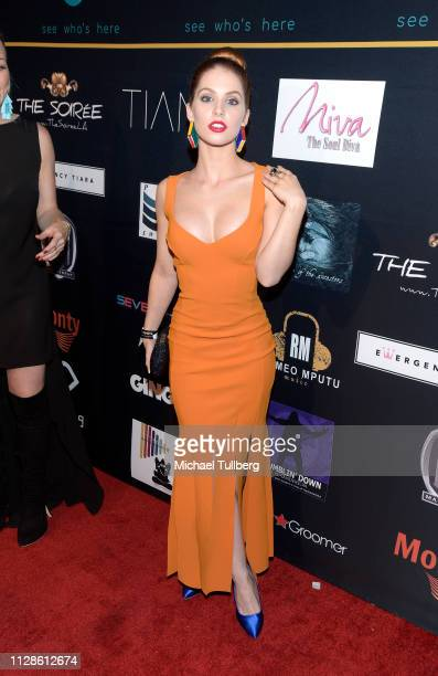 Ainsley Ross attends the 5th annual The Soirée gala at The Roxy Theatre on February 09 2019 in West Hollywood California