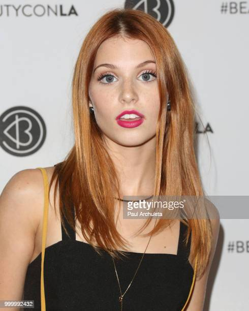Ainsley Ross attends the Beautycon Festival LA 2018 at Los Angeles Convention Center on July 15 2018 in Los Angeles California