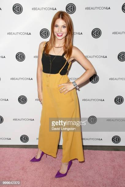 Ainsley Ross attends the Beautycon Festival LA 2018 at the Los Angeles Convention Center on July 15 2018 in Los Angeles California