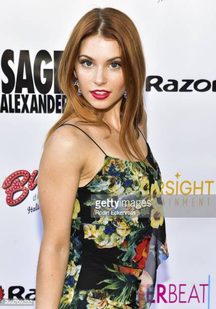 Ainsley Ross attends the Sage Launch Party CoHosted by Tiger Beat at El Rey Theatre on July 14 2018 in Los Angeles California