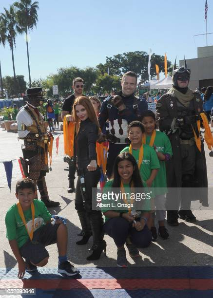 Ainsley Ross Jeff Knight and Steamroller Jim at Easter Seals Southern California's 'Strides For Disability 5K Run/Walk and 3K Family Fun Walk' held...