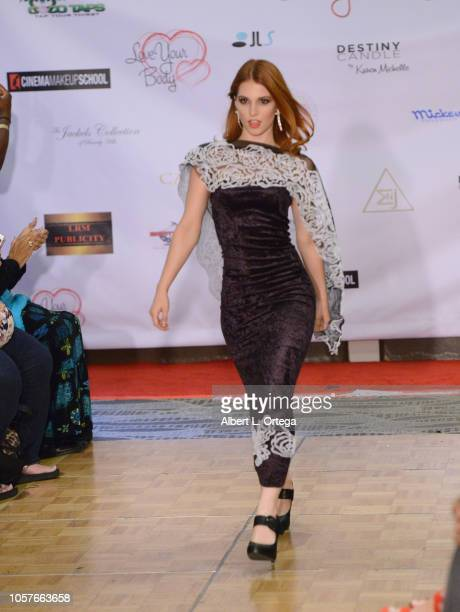 Ainsley Ross walks the runway at the 6th Annual Love Your Body Fashion Show And Shopping Event held at Luxe Sunset Boulevard Hotel on November 4 2018...
