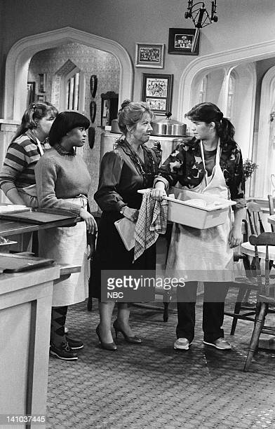 LIFE 'Ain't Miss Beholden' Episode 1 Pictured Mindy Cohn as Natalie Green Kim Fields as Dorothy 'Tootie' Ramsey Charlotte Rae as Edna Garrett and...