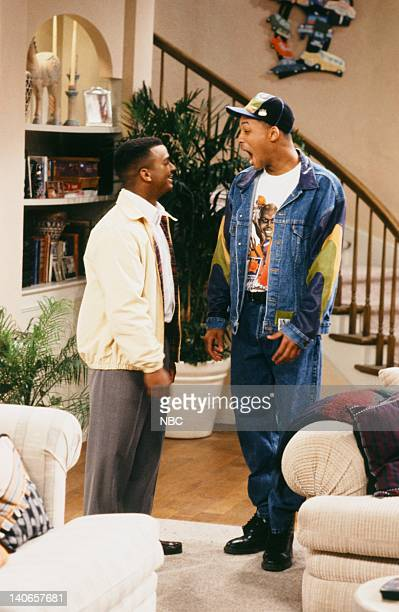 AIR 'Ain't No Business Like Show Business' Episode 22 Pictured Alfonso Ribeiro as Carlton Banks Will Smith as William 'Will' Smith Photo by Paul...