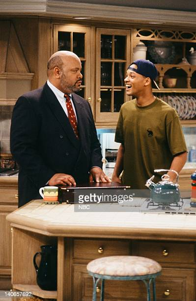 AIR Ain't No Business Like Show Business Episode 22 Pictured James Avery as Philip Banks Will Smith as William 'Will' Smith Photo by Paul...