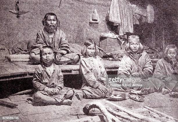 Ainu or Aynu an indigenous people of Japan and Russia 1900