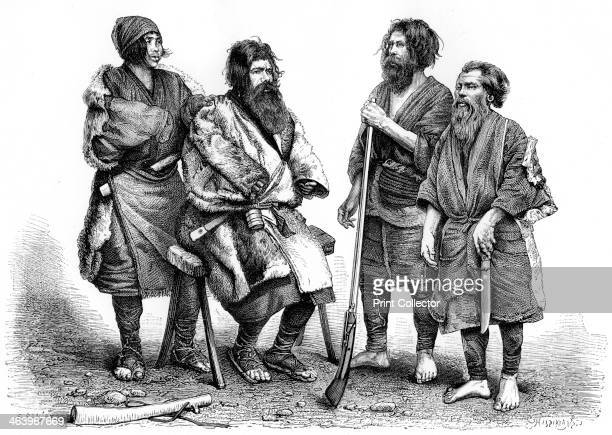 Ainu people Japan 1895 From The Universal Geography with Illustrations and Maps division XIV written by Elisee Reclus and published by Virtue Co...