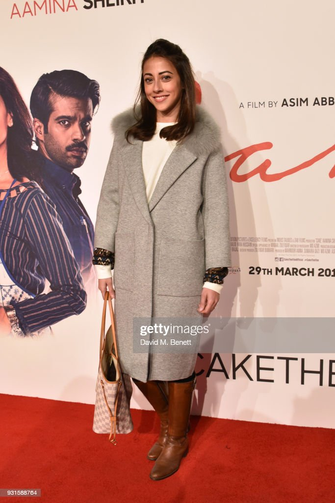 Ainy Jaffri attends the UK Premiere of 'Cake' at the Vue West End on March 13, 2018 in London, England.