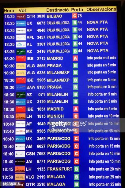 Aiport departure board