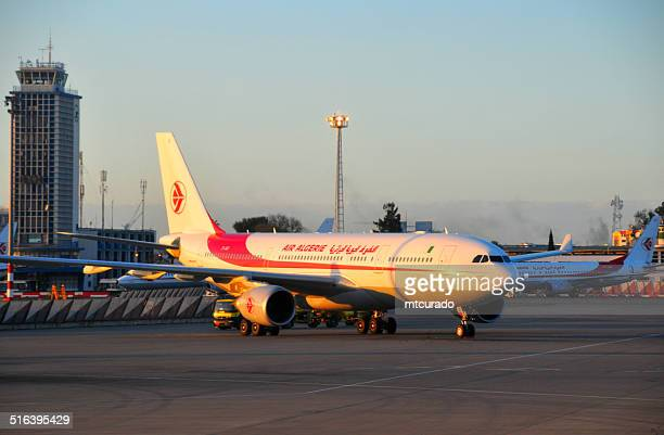 air algerie airbus a330 at algiers airport - algeria stock pictures, royalty-free photos & images