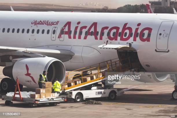 Air Arabia aircraft at Queen Alia International Airport On Friday February 15 in Zizya Jordan