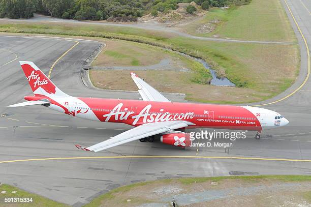 Air Asia Aircraft at Gold Coast Airport on August 10th 2012 in Gold Coast Australia
