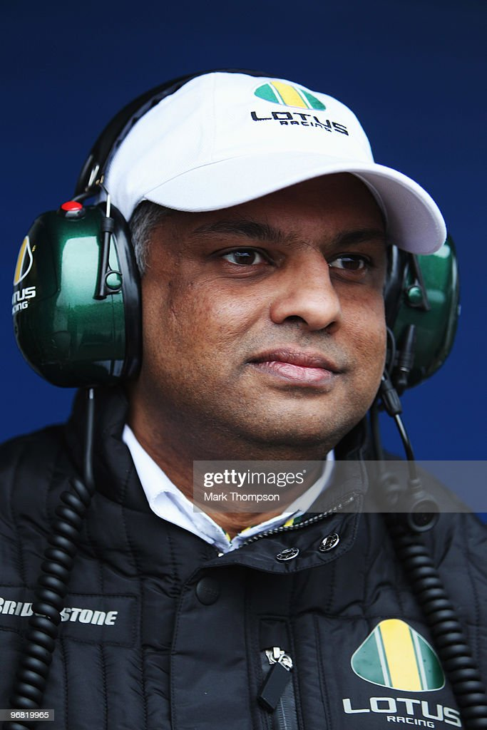 Air Asia founder and Lotus F1 Team Principal Tony Fernandes is seen during winter testing at the Circuito De Jerez on February 18, 2010 in Jerez de la Frontera, Spain.