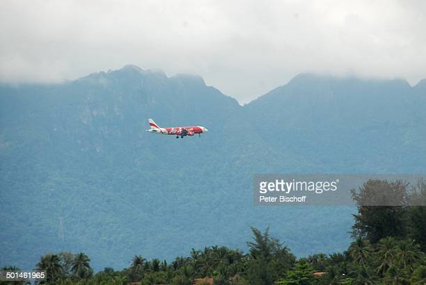Air AsiaFlugzeug Insel Langkawi Malaysia Flieger landen Airline Reise NB DIG PNr 1836/2011