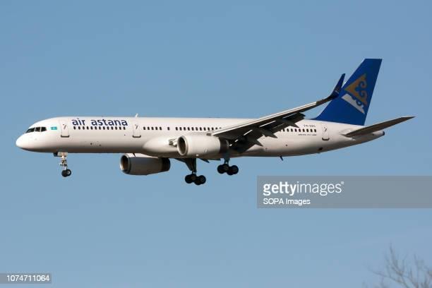 Air Astana Boeing 757200 landing at London Heathrow airport