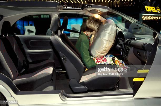 Air bag in a Opel Corsa in Geneva Switzerland on March 02 1993