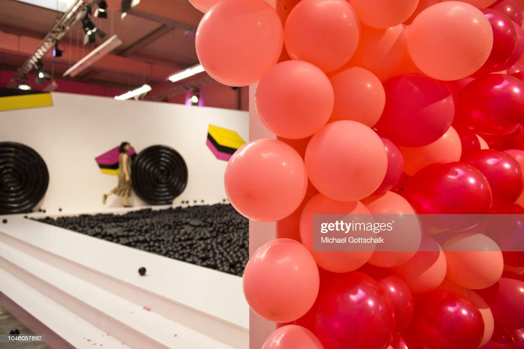 Air balloons at Supercandy! Pop-Up Museum on October 5, 2018 in