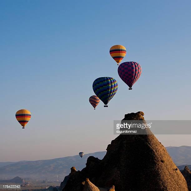 Air balloons flying in Cappadocia
