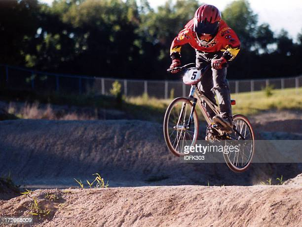 air bike - bmx cycling stock pictures, royalty-free photos & images