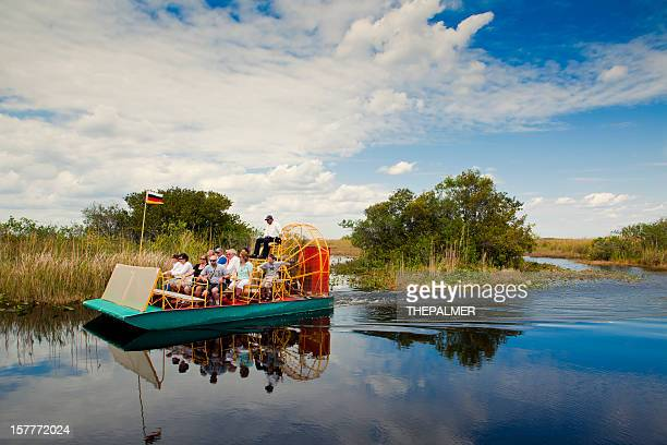 air boat in the florida everglades - everglades national park stock pictures, royalty-free photos & images