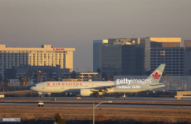 Air Canada 777333ER at Los Angeles International Airport on December 28 2017 in Los Angeles California