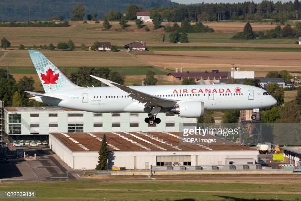Air Canada Boeing 7878 Dreamliner landing at Zurich Kloten airport