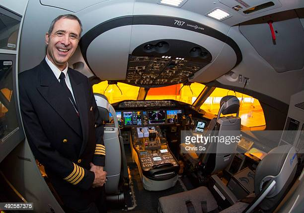 Air Canada Captain Steven Strauss in the cockpit of the new Boeing 787 Dreamliner that Air Canada took delivery of The airline unveiled the new plane...