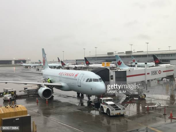 Air Canada jet at Toronto Pearson International Airport in Toronto Canada on May 3 2018