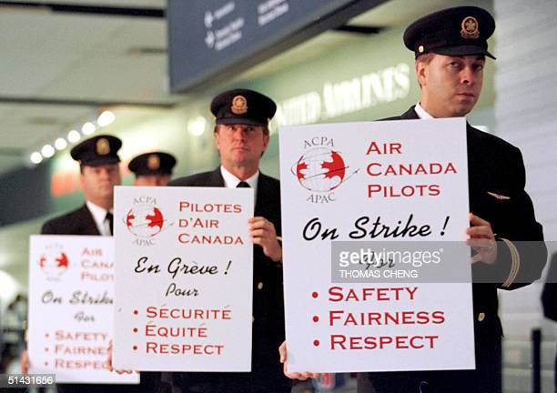 Air Canada pilots on strike at Toronto's Pearson Airport 02 September The pilots are demanding better salary's and working conditions Some 60000...