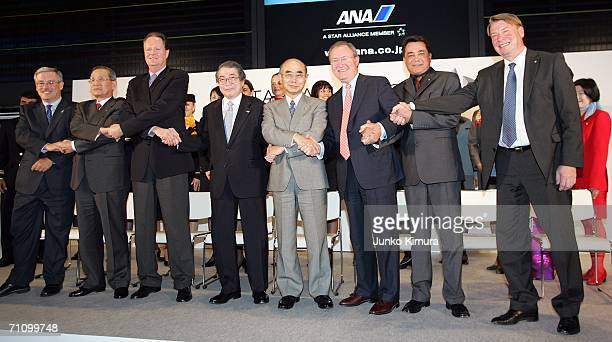Air Canada President and CEO Montie Brewer ASIANA Airlines Vice Chairman and CEO Chan Bup Park Star Alliance CEO Jaan Albrecht ANA President CEO...