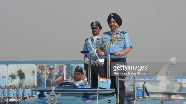 Air Chief Marshal Birender Singh Dhanoa during Indian Air Force Day celebrations in New Delhi