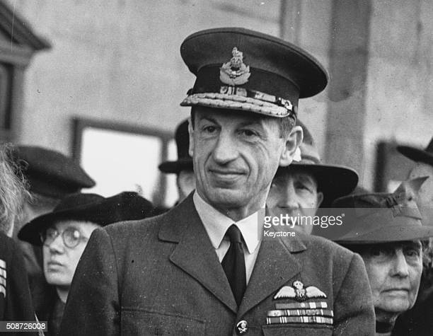 Air Chief Marshal Sir Charles Portal attending the ANZAC Day service at St MartinintheFields London April 27th 1943
