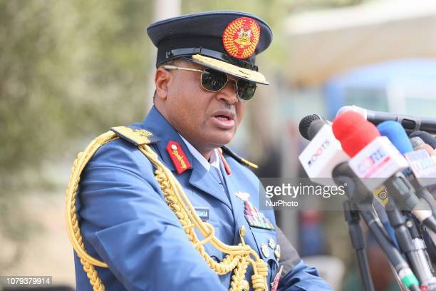 Air chief speaks at the burial of 5 officers who died in Damasak in Abuja Nigeria on January 8th 2019