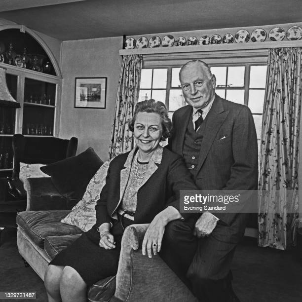 Air Commandant Dame Jean Conan Doyle of the Women's Royal Air Force with her fiancé, Air Vice-Marshal Sir Geoffrey Rhodes Bromet of the RAF, UK, 11th...