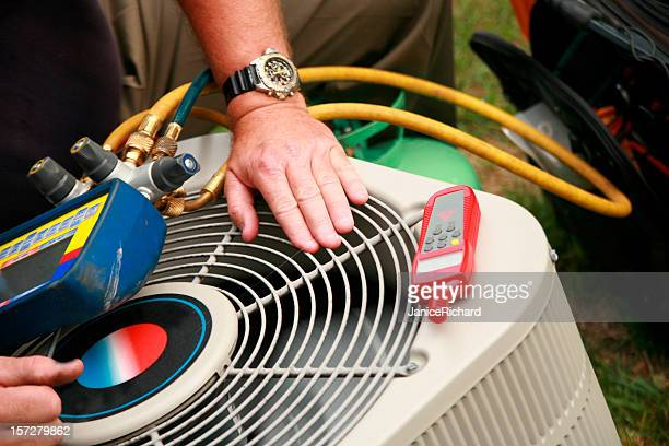 air condition service - hvac stock photos and pictures