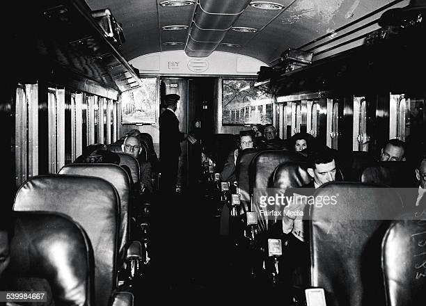 Air conditioned carriages for the Newcastle Express Central Station Sydney on 23 November 1948 FAIRFAX ARCHIVE Picture by STUART MACGLADRIE