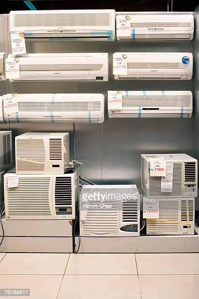 Air conditioners at supermarket