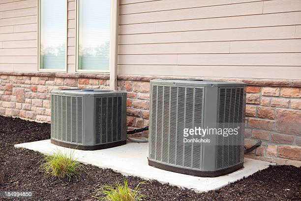 air conditioners - hvac stock photos and pictures