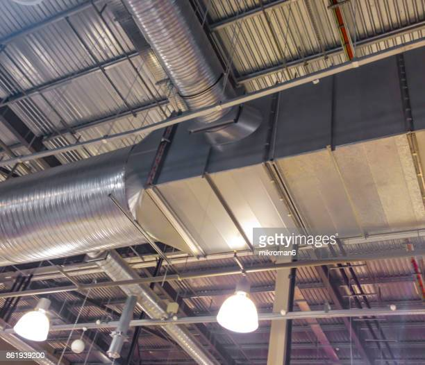 Air conditioning Ventilation Ducts and light in building