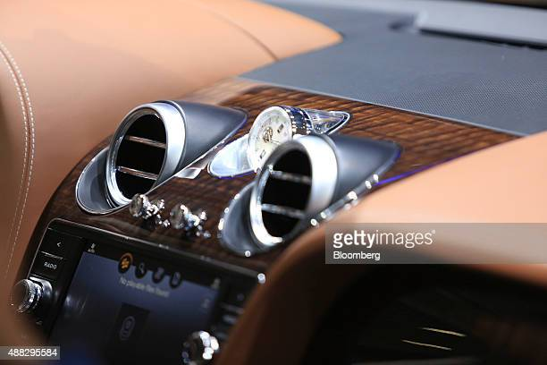 Air conditioning vents sit on the dashboard of a Bentley Bentayga SUV automobile produced by Bentley Motors Ltd a luxury unit of Volkswagen AG sits...