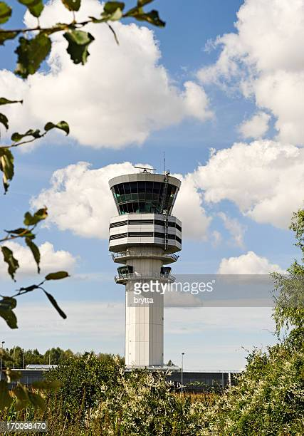 Air control traffic  tower at Brussels Airport,Belgium