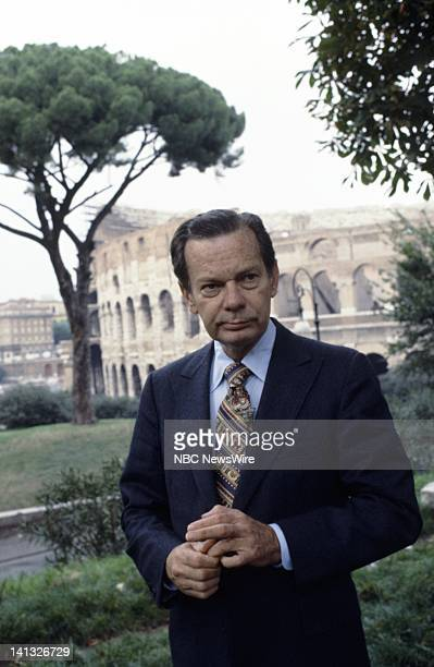 RECORD Air Date Pictured NBC News' David Brinkley in Rome Italy during an NBC News Special that discusses the growth of Eurocommunism European...