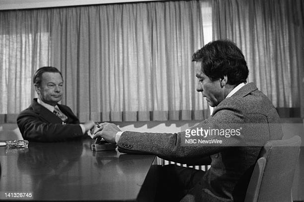 RECORD Air Date Pictured NBC News' David Brinkley Professor Dr Erwin K Scheuch in West Germany during an NBC News Special that discusses the growth...