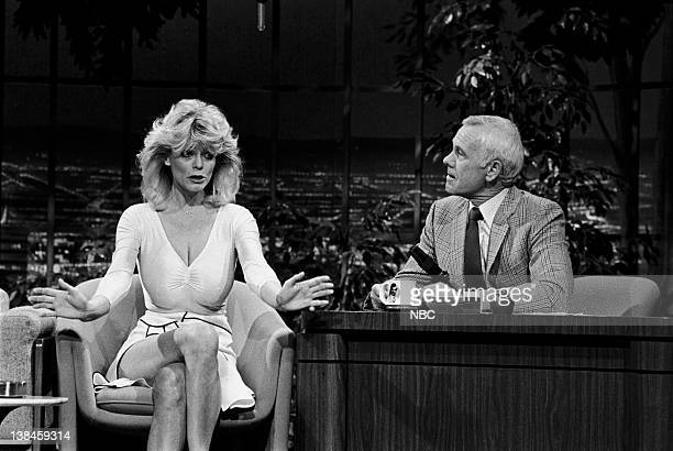 CARSON Air Date Pictured Carol Wayne with host Johnny Carson